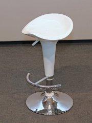 Barhocker Sitz Plastik, weiß (höhenverstellbar)