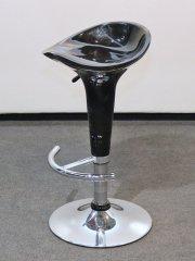 Barhocker Sitz Plastik, schwarz (höhenverstellbar)