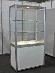 Standvitrine, verschließbar 1000x500 h2000