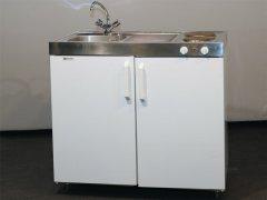 Messeküche (Kühlschrank, Spüle, Boiler, 2 Kochplatten)